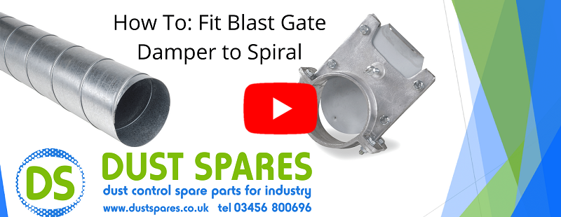 How To - Fit Blast Gate Damper to Spiral Banner