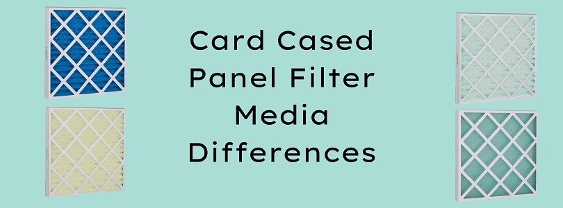 Card Cased Panel Filter Media Differences Banner