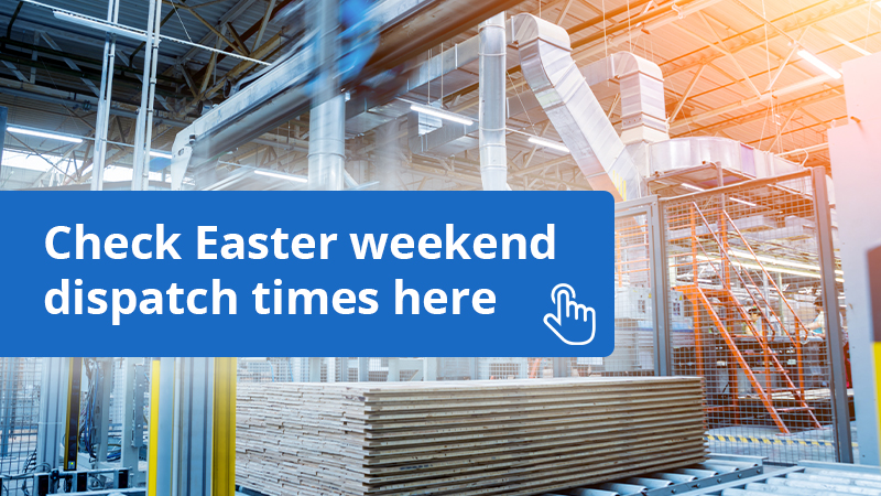 Dust spares delivery and shipping schedule over the easter bank holiday weekend