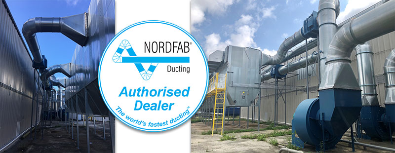 This is an image to show that we're an authorised dealer of Nordfab ducting
